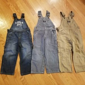 4T Toddler Boy's Overall Lot